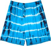 Olympic Blue Tie Dye Beach Summer Shorts