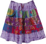 Summer Frolic Purple Fun Short Boho Skirt