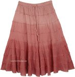 Brandy Rose Ombre Short Skirt with Tiers