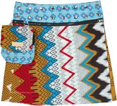 Snowy Bohemian Hues Reversible Wrap Skirt with Pockets