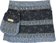 Floral Night Button Wrap Short Skirt with Fanny Pack