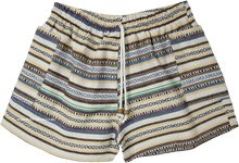 Hippie Stripes Gheri Cotton Shorts with Pockets