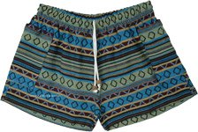 Hippie By Nature Striped Cotton Shorts with Pockets