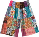 Unisex Bahama Bermuda Shorts in Mixed Patchwork