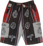 Dark Bohemian Unisex Cargo Shorts with Symbol Prints