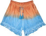 Fire and Ice Tie Dye Outdoors Fun Shorts