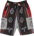 Dark Bohemian Unisex Cargo Shorts with Symbol Prints