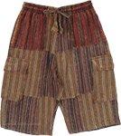 Earthy Meadows Bermuda Cargo Cotton Shorts