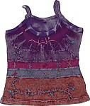Wine Berry Summer Top With Embroidery