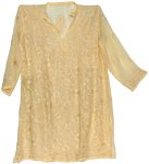 Light Yellow Tunic Top Shirt XXL