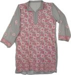 Rose Chikan Georgette Tunic