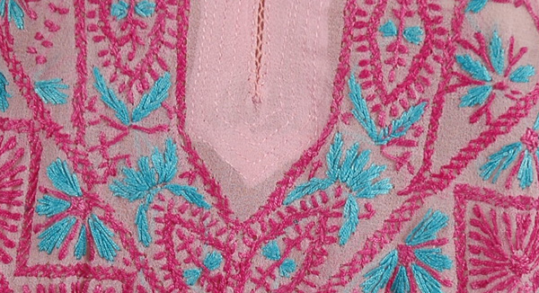 Embroidered Pink Dazzler Tunic