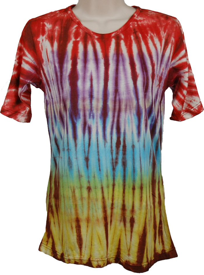 Summer Tie Dye Tunic , Tie Dye Dye Design Shirt Tunic