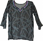 Sheer Tunic in Black Chiffon Fashion Wear