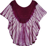 Purple Tie Dye Poncho Top for Summer [4013]