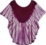 Mulberry Wood Tie Dye Butterfly Top