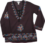 Gondola Embroidered Tunic Top
