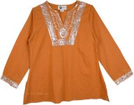 Harvest Full Sleeve Tunic Top with Sequins [4608]