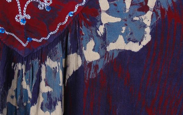 Marble Tie Dye Jacarta Tunic Top