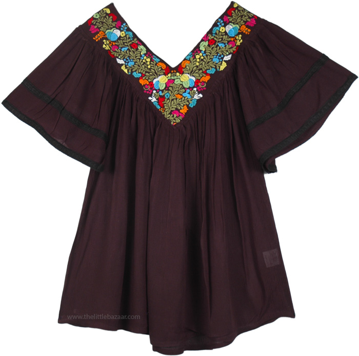 Bohemian Dreams Tunic in Imperial Black, Free Spirit Tunic in Midnight Black