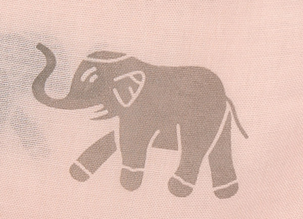 Elegant Elephant Short Drape Poncho in Pale Pink