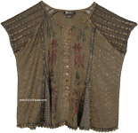 Millbrook Medieval Style Short Top with Embroidery