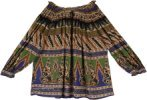 Tribal Print Free Flowing Rayon Off Shoulder Top