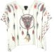 Embellished Owl Pattern Poncho Top in White