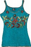 Small Turquoise Applique Top