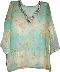 Sheer Fashion Tunic in Chiffon w/ Sequin