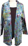 Tie Dye Cotton Summer Yoga Jacket Long Length