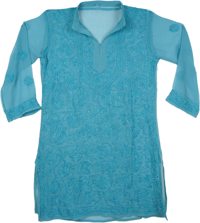 St Barth Tunic Top Shirt with Embroidery