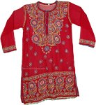 Shiraz Sheer Georgette Tunic For Women