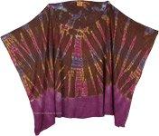 Boho Chic Tie Dye Poncho Top