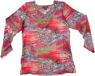Festive Kaleidoscopic Tunic in Red