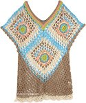 Crochet Net V-Neck Fitted Boho Top