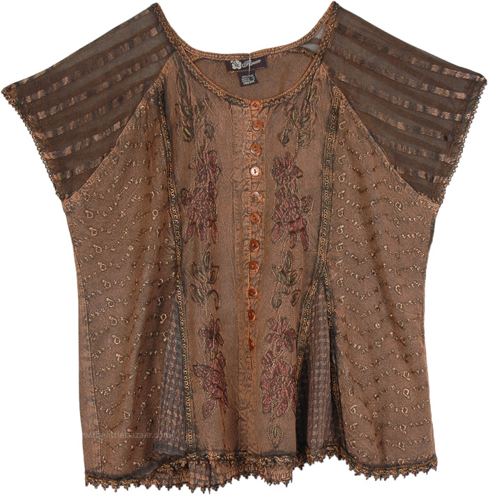 Gaelic Look Copper Brown Top
