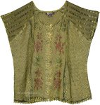 Shadow Green Floral Medieval Top