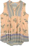 Boho Salmon Summer Sleeveless Cute Top