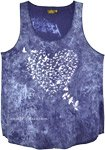 Cobalt Blue Tank Top with Dove Print