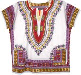 Plus Size Dashiki African Unisex Cotton Shirts in White