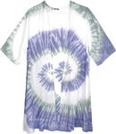 Mimi Beach Waves Tie Dye Kimono Shirt in White