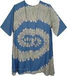 Bali Hai Teal Kimono Duster with Boho Tie Dye