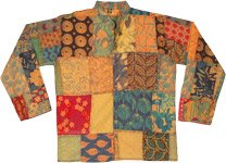 Autumn Hues Patchwork Hippie Unisex Full Sleeve Shirt