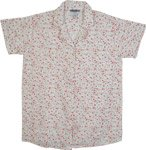 Strawberry Floral Cotton Summer Shirt