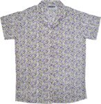 Lavender Fields White Cotton Summer Shirt