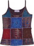 Arabian Nights Patchwork Top with Razor Cut Details