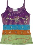Under The Sea Tank Top with Embroidered Details