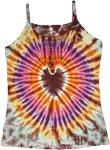 Hippie Heart Enlightened Tie Dye Summer Tank Top