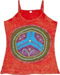 Peace Pharaoh Embroidered Hippie Cotton Tank Top